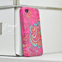 Apple iphone case for iphone iphone 5 iphone 4 iphone 4s iPhone 3Gs  : Abstract vintage pink floral pattern