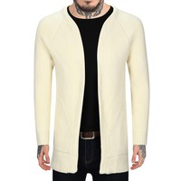 ief.G.S 2017 New Winter Men's Sweater Coat Color and Style In Fashion Cardigan Long Coat Jacket