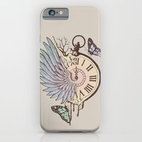Le Temps Passe Vite (Time Flies) iPhone & iPod Case by Norman Duenas