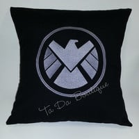 Shield Embroidered Pillow Case Cover