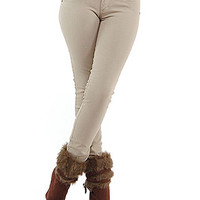 Skinny Jeans - Made in Colombia Jeans - White Colored Jeans - $29.99