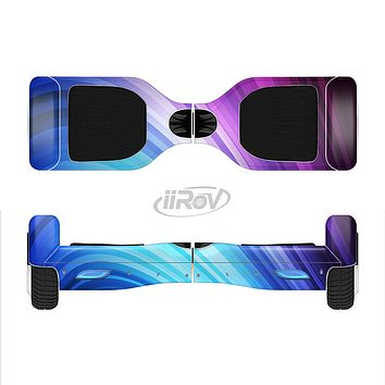 The Pink and Blue Glowing Neon Wave Full-Body Skin Set for the Smart Drifting SuperCharged iiRov HoverBoard
