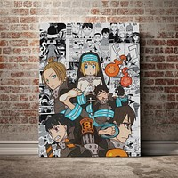 Hot Fire Force Anime Canvas Poster Painting