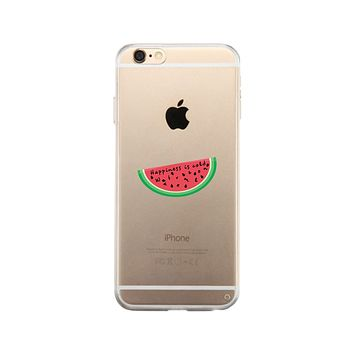 Happiness Is Cold Watermelon Clear Phone Case