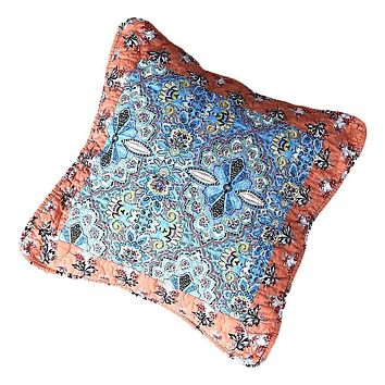 Tache Cotton Patchwork Paisley Floral Bohemian Mosaic Paradise Cushion Cover 2-Pieces (JHW-933)