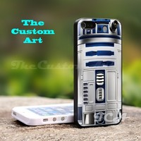 Star Wars R2D2 - For iPhone 4,4S Black Case Cover