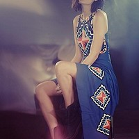 Mara Hoffman  Rider Beaded Gown at Free People Clothing Boutique