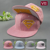 Cotton embroidered Superman stereo flat along the baseball summer men and women in hip-hop Cap visor Hat = 1946381380