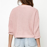 Glamorous Fisherman Knit Pullover Sweater at PacSun.com