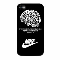 Nike Just Do It Quote Black iPhone 4s Case