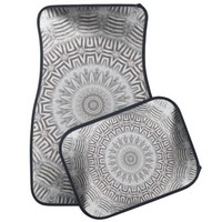 METAL Element Kaleido Pattern set of 4 car mats from TheElementalHome* on Zazzle