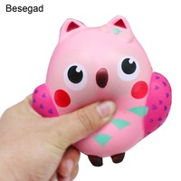 Besegad Slow Rising Squishy Toy Owl Shape Relieves Stress Toy Decompression Squeeze Toy for Children Adults Anxiety Attention