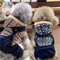 Rompers Jeans Winter dog clothes