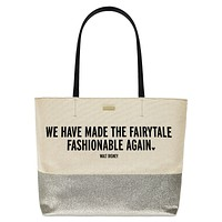 Disney Made the Fairytale Fashionable Again Canvas Glitter Tote Kate Spade New