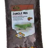 Zilla Jungle Mix Peat Moss Reptile Bedding 8qt