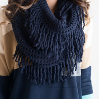 The Infinite Infinity Scarf Navy