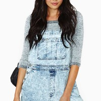 After Party Vintage Teen Spirit Denim Shortalls