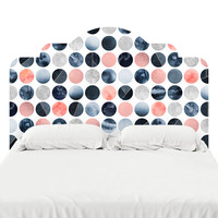 Blue and Pink Dots Headboard Decal