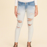 Girls Low-Rise Crop Super Skinny Jeans | Girls Bottoms | HollisterCo.com