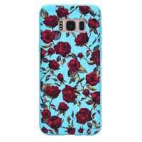 Blue Roses Floral Samsung Galaxy Case