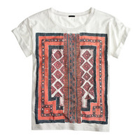 J.Crew Womens Graphic Embroidery T-Shirt