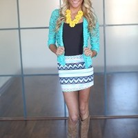 Laced Up Cardigan Mint