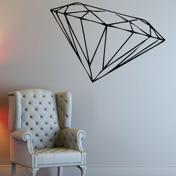 Vinyl Wall Decal Sticker Diamond #1483