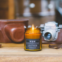 gentleman's reserve candle - leather