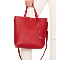 Saint Laurent Toy North South Tote Bag in Eros Red | FWRD