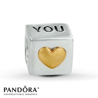 Pandora Charm 14K Gold Accents Sterling Silver