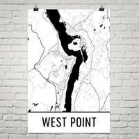 West Point NY Street Map Poster
