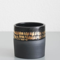 Black + Gold Dash Tumbler
