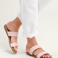 Oona Blush Slide Sandals