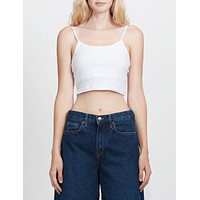 Fitted Cami Color Crop Top with Adjutable Straps (CLEARANCE)