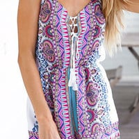 Trendy Boho Printed Summer Romper