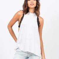 Flowy Mock Neck Top
