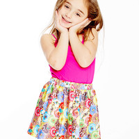 Kids Stacked Donuts Skater Skirt