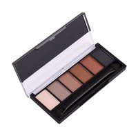 Professional 6 Color Eye Shadow Make Up Cosmetic Fashion Shimmer Eyeshadow Palette Concealer Palette FA06  smokey in Stock