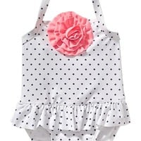 Old Navy Polka Dot Rosette Swimsuits For Baby
