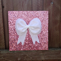 Pink sequence Bow Wall hanging Wall decor by GlitzyPrincesses