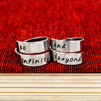 To Infinity and Beyond Rings - Best Friends - Friendship Rings - Wrap Ring Set