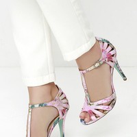 Blue by Betsey Johnson Tee Floral Dress Sandals