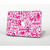 """The Pink Collage Breast Cancer Awareness Skin Set for the Apple MacBook Pro 15"""" with Retina Display"""
