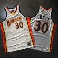 2009-10 Mitchell & Ness Warrior 30 Curry Basketball Jersey | Best Online Sale