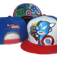 TokiDoki Marvel Captain America Holding Burger Snap-back Cap for Adults