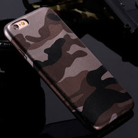 For iPhone 7 Cases Military Camouflage Cool Men Leather Back Cover Case For iPhone 7 7 Plus For iPhone 6 6S 5 5s SE Couqe Fundas