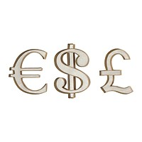 Currency Wall Display (Set of 3)