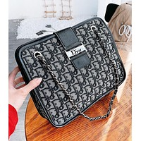 DIOR New fashion more letter leather chain shoulde bag women crossbody bag women