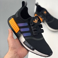 Adidas Boost NMD R1 stretch-knit mesh breathable sneakers shoes
