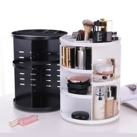 Spinning Cosmetic 360° Rotating Lipstick Makeup Organizer Rack (Size: One Size)